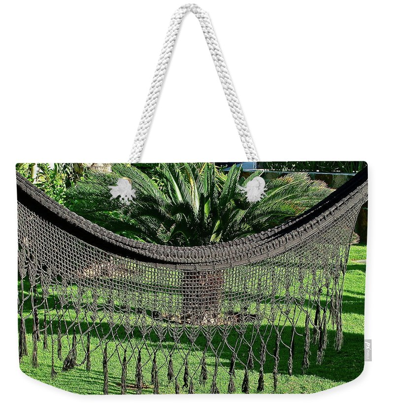 Garden Weekender Tote Bag featuring the photograph Just Relax by Diana Hatcher