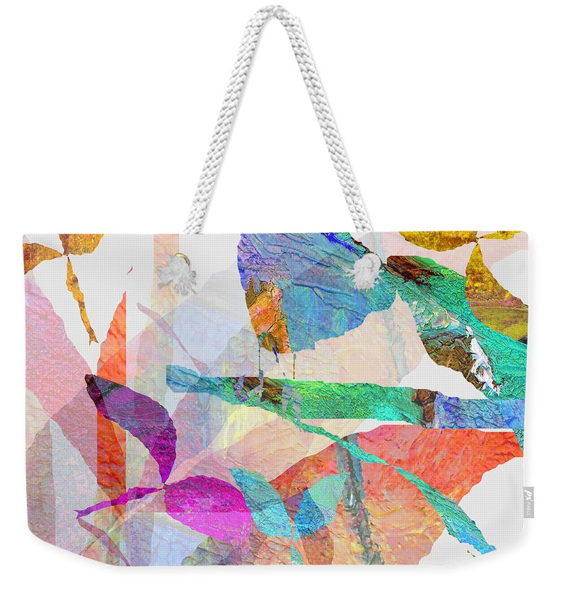 Bird Weekender Tote Bag featuring the mixed media Just Sittin by Ruth Palmer