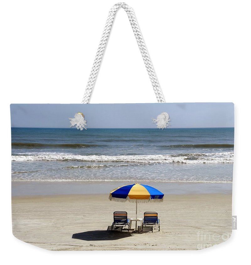 Beach Weekender Tote Bag featuring the photograph Just The Two Of Us by David Lee Thompson