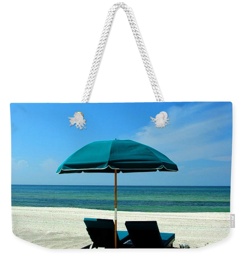 Beach Scene Weekender Tote Bag featuring the photograph Just The Two Of Us by Susanne Van Hulst