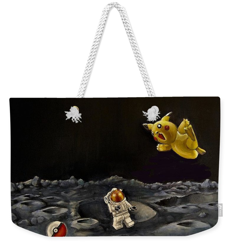Pokeman Weekender Tote Bag featuring the painting Just Trying To Get Back Home by Jean Cormier