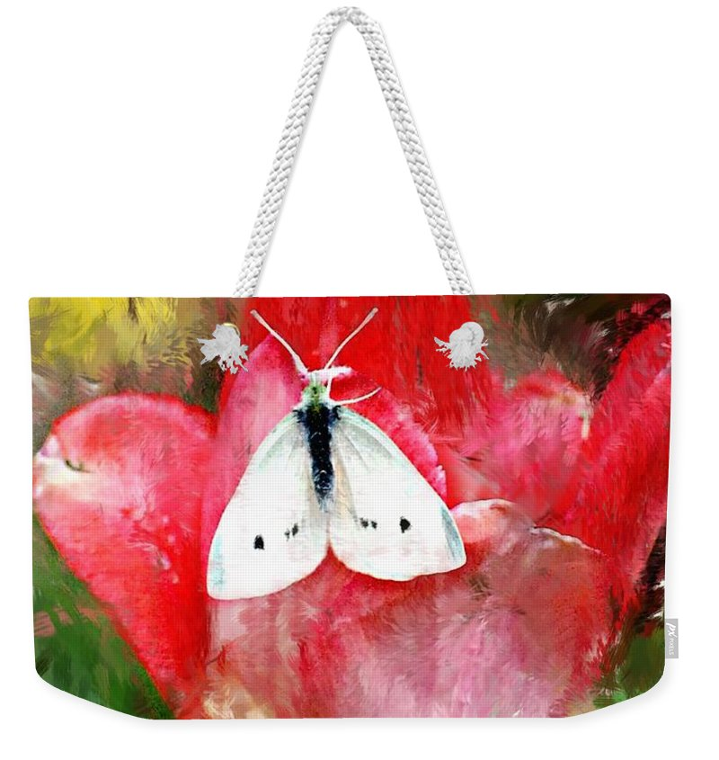 Digital Photo Weekender Tote Bag featuring the photograph Just Visiting by David Lane