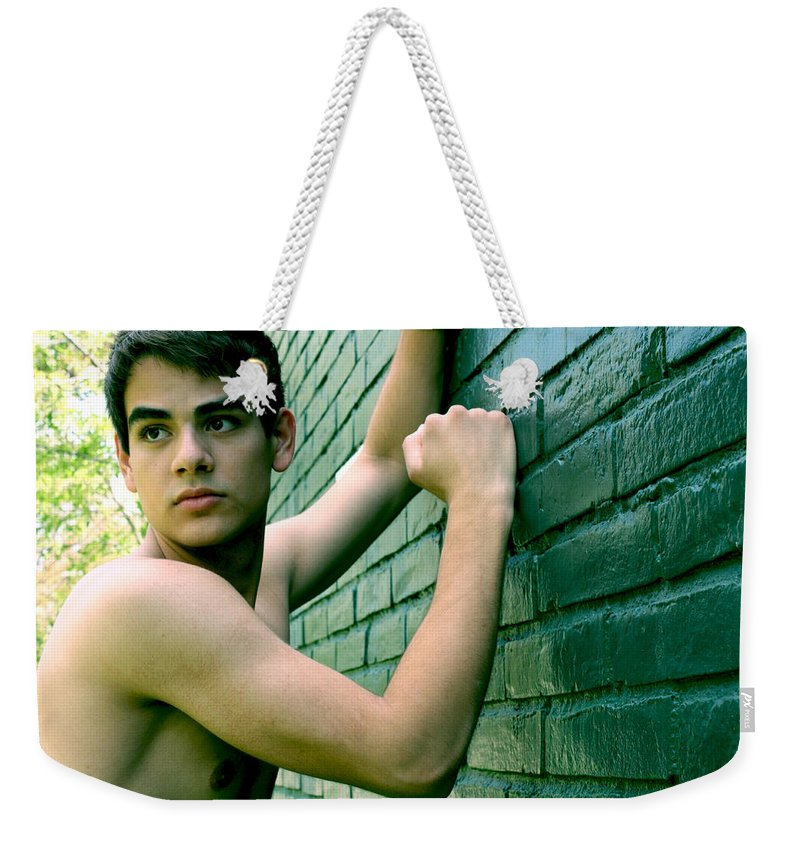 Color Weekender Tote Bag featuring the photograph Justin by Raul Medina