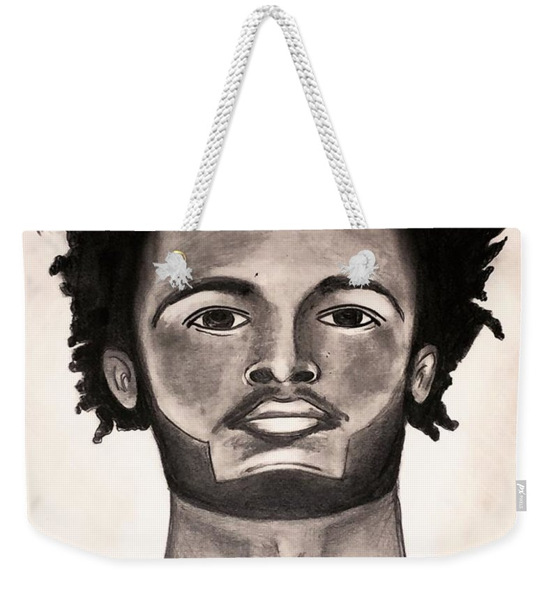 Miami Heat Weekender Tote Bag featuring the drawing JW by Kevin Burden