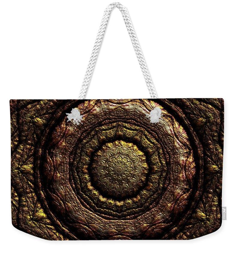 Light Weekender Tote Bag featuring the digital art Jyoti Ahau 221 by Robert Thalmeier