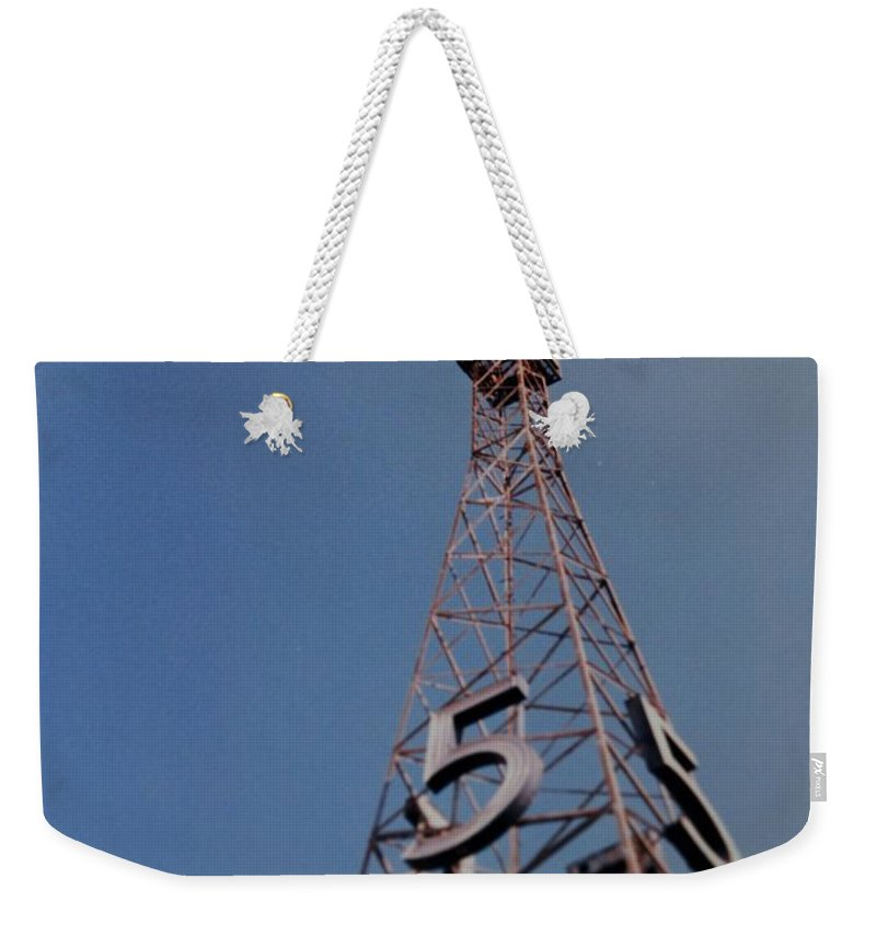 Hollywood Weekender Tote Bag featuring the photograph K T L A Channel 5 by Rob Hans