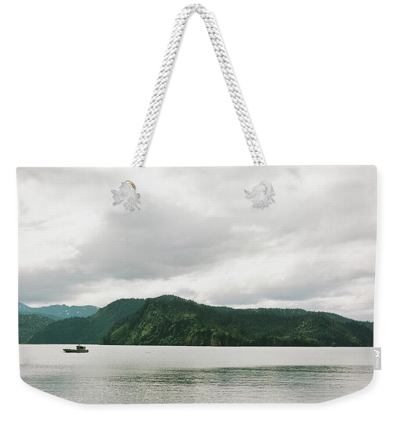 Kachemak Bay Weekender Tote Bag featuring the photograph Kachemak Bay by Kate Lamb