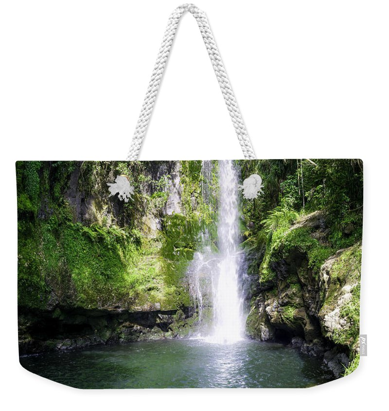 New Zealand Weekender Tote Bag featuring the photograph Kaiate Falls by Martin Capek