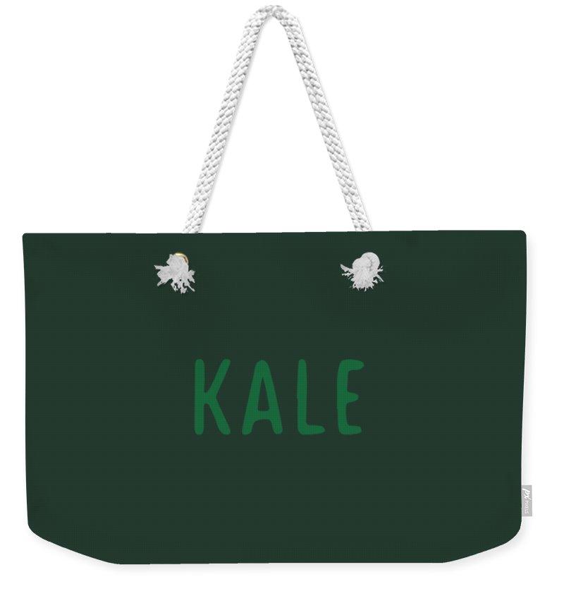 Text Weekender Tote Bag featuring the digital art Kale by Cortney Herron