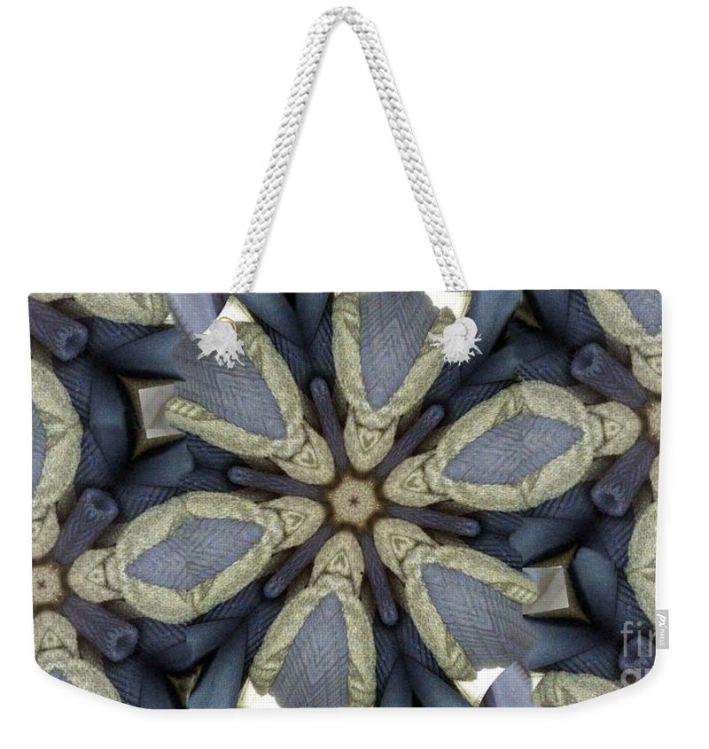 Abstract Pattern Weekender Tote Bag featuring the photograph Kaleidoscollage by Ron Bissett