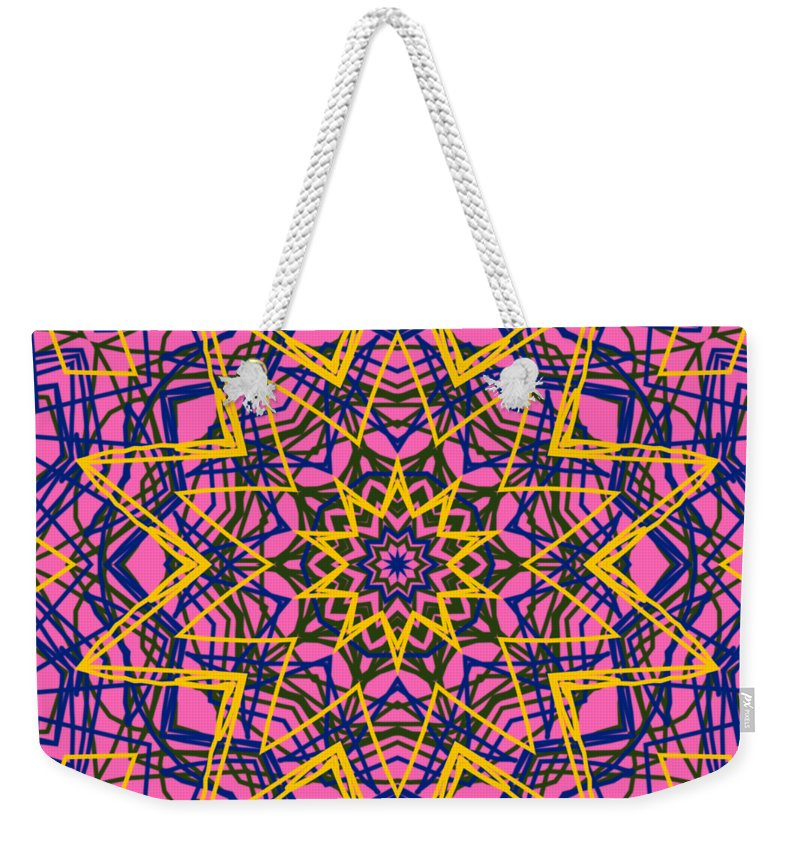 Digital Art Weekender Tote Bag featuring the digital art Kaleidoscope 1004 by Kristalin Davis