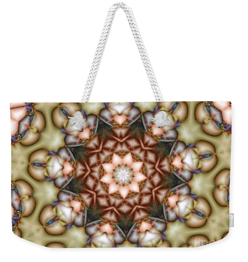 Star Weekender Tote Bag featuring the photograph Kaleidoscope 108 by Ron Bissett