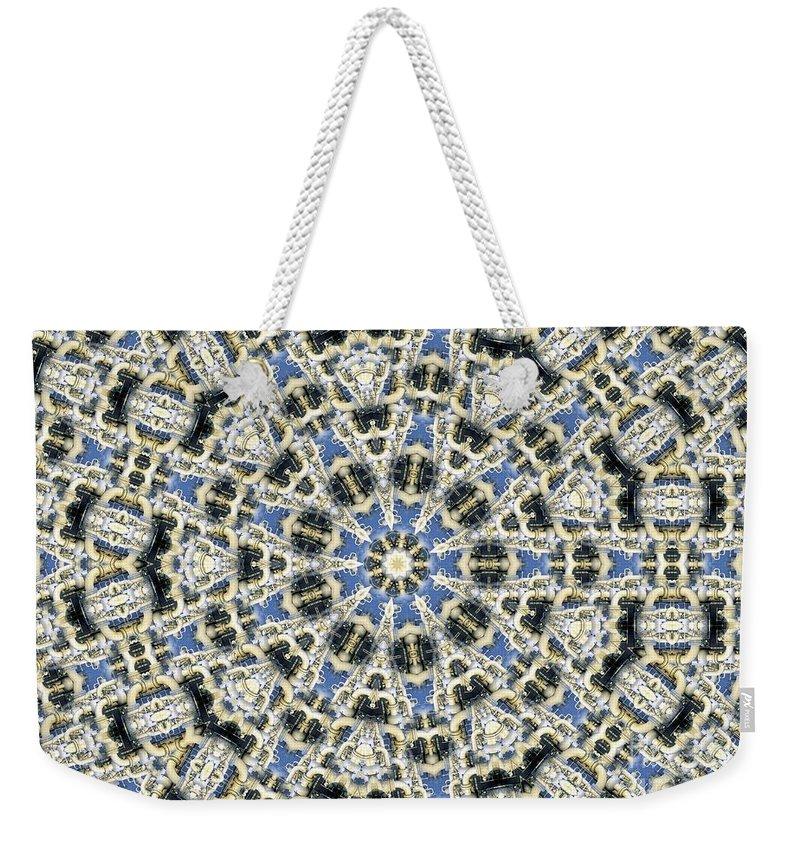 Kaleidoscope Weekender Tote Bag featuring the digital art Kaleidoscope 78 by Ron Bissett