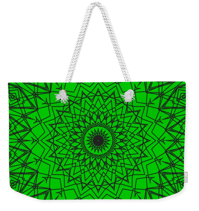 Kaleidoscope Weekender Tote Bag featuring the digital art Kaleidoscope 790 by Kristalin Davis