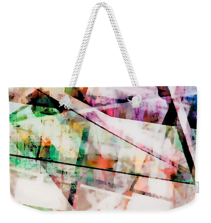 Abstract Weekender Tote Bag featuring the photograph Kaleidoscope Vision by Tom Gowanlock
