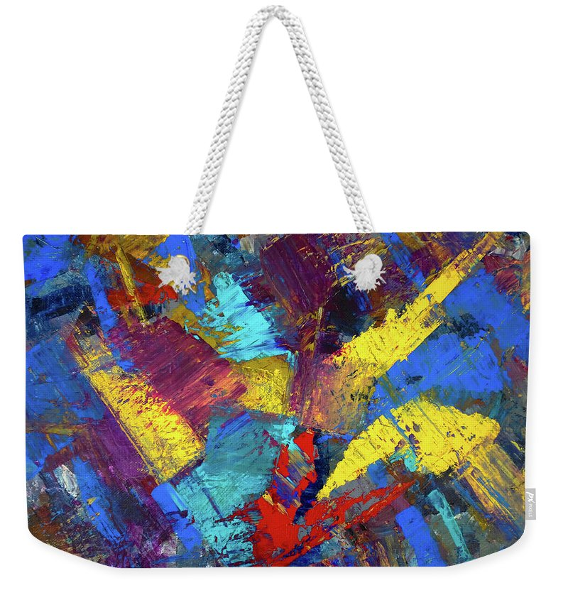 Abstract Weekender Tote Bag featuring the painting Kaleidoscopic by Dick Bourgault