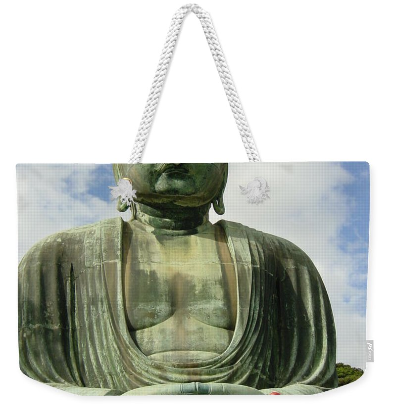 Buddha Weekender Tote Bag featuring the photograph Kamakura Daibutsu by D Turner