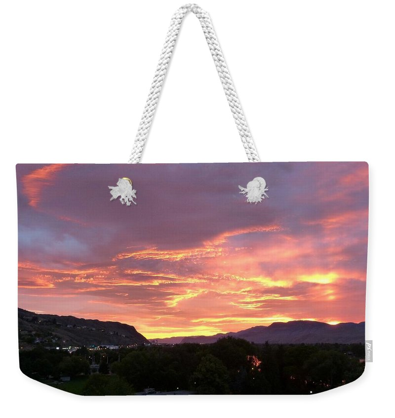 Sunset Weekender Tote Bag featuring the photograph Kamloops Sunset 2 by Will Borden