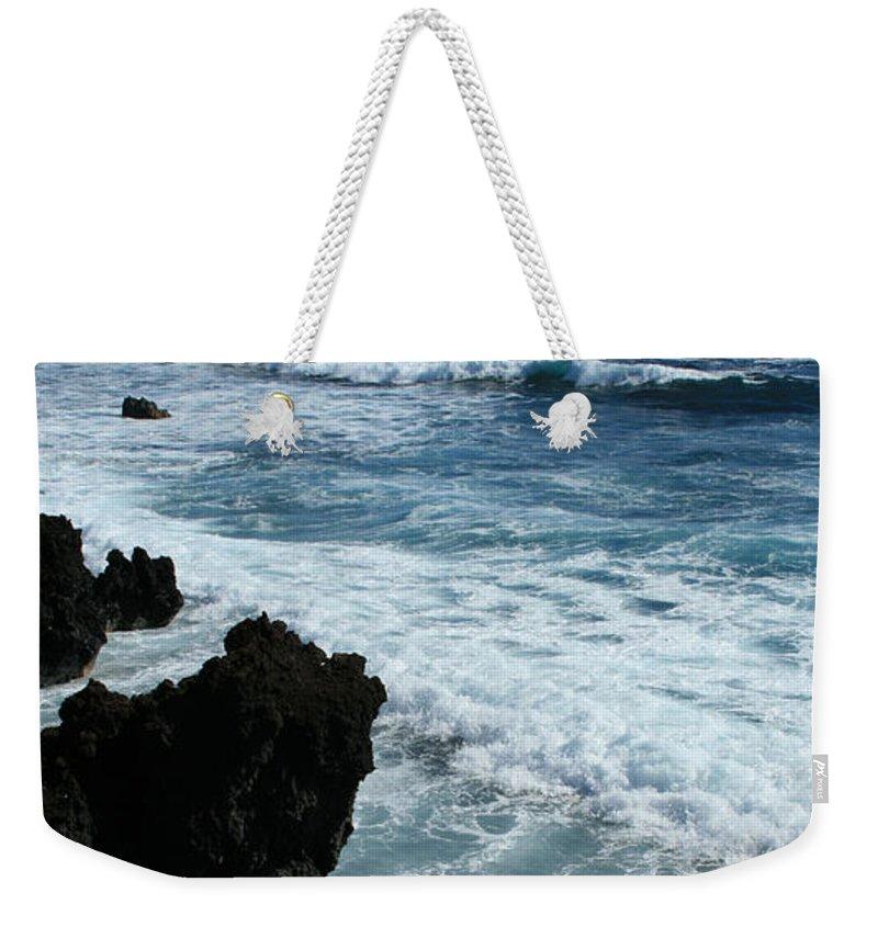 Aloha Weekender Tote Bag featuring the photograph Kanaio Ahihi Kinau Maui Hawaii by Sharon Mau