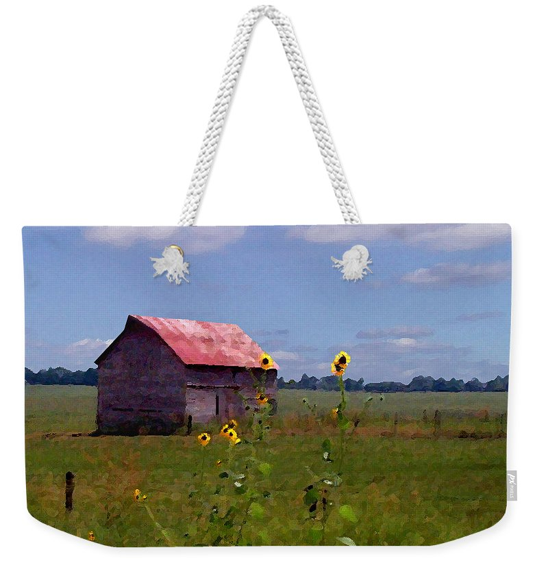 Landscape Weekender Tote Bag featuring the photograph Kansas Landscape by Steve Karol