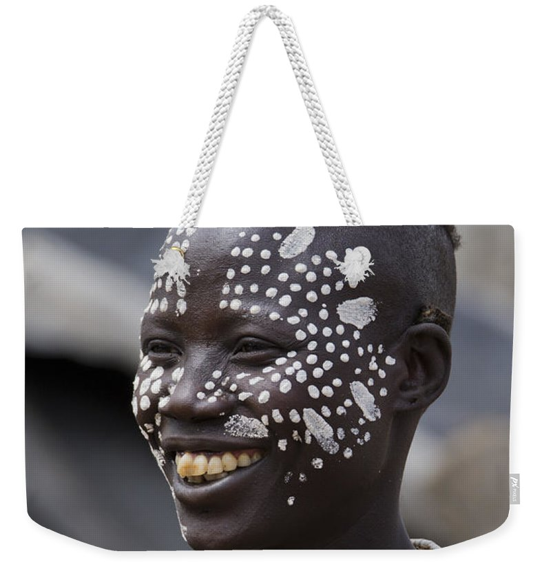 Anthropology Weekender Tote Bag featuring the photograph Karo Tribe Female by Eyal Bartov