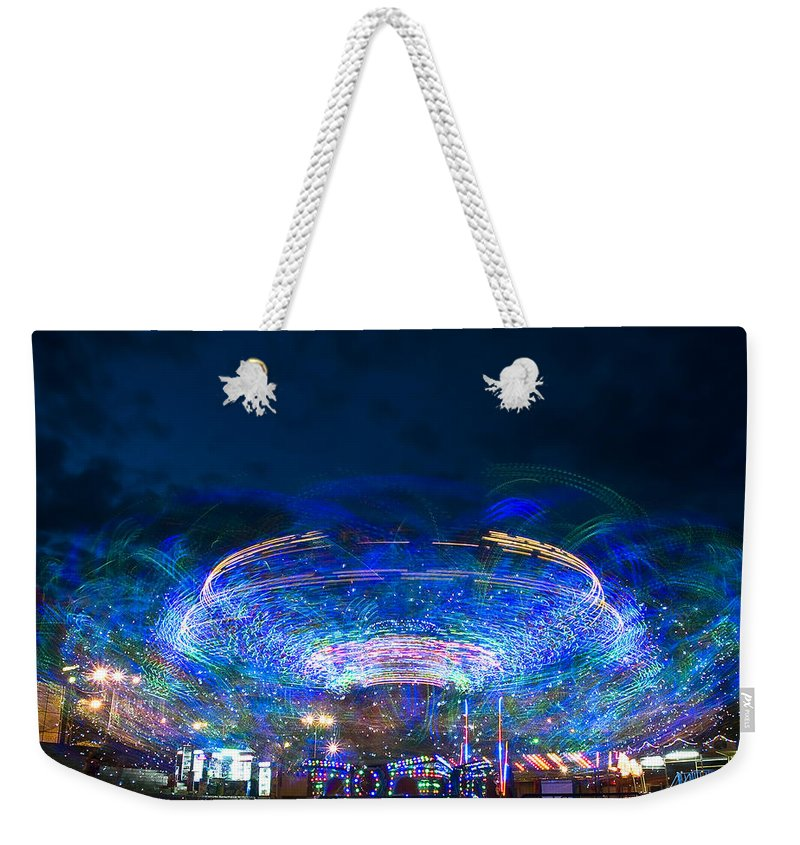 Abstract Weekender Tote Bag featuring the photograph Karusel by Svetlana Sewell