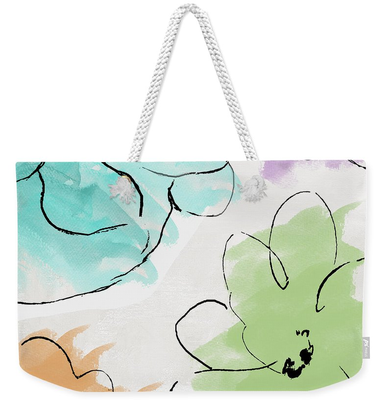 Abstract Weekender Tote Bag featuring the painting Kasumi by Mindy Sommers