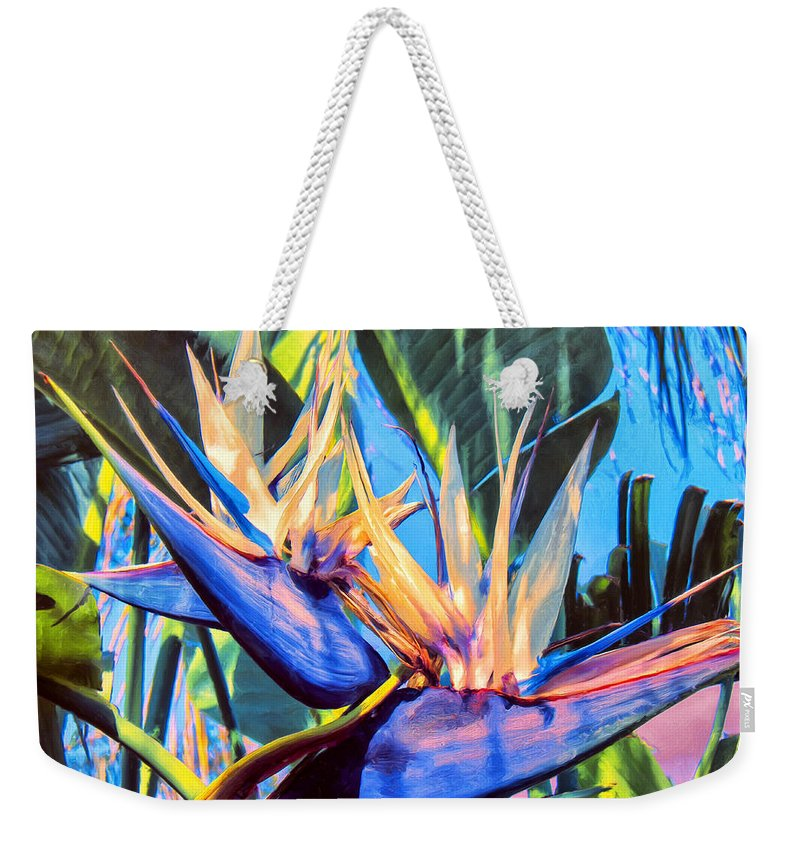 Bird Of Paradise Weekender Tote Bag featuring the painting Kauai Bird Of Paradise by Dominic Piperata