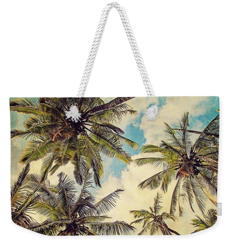 Kauai Island Palms - Blue Hawaii Photography Weekender Tote Bag