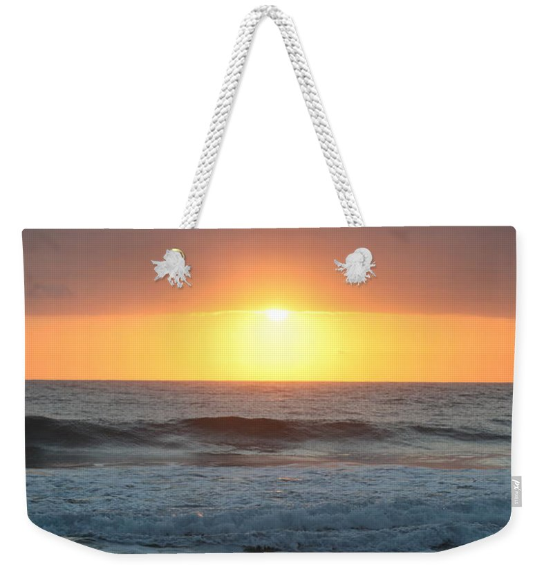 Kauai Weekender Tote Bag featuring the photograph Kauai Sunrise by Nadine Rippelmeyer