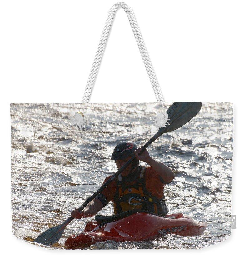 Lehtokukka Weekender Tote Bag featuring the photograph Kayak 2 by Jouko Lehto