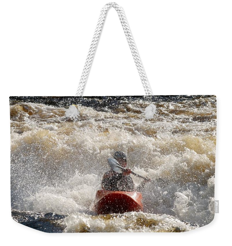Lehtokukka Weekender Tote Bag featuring the photograph Kayak 5 by Jouko Lehto