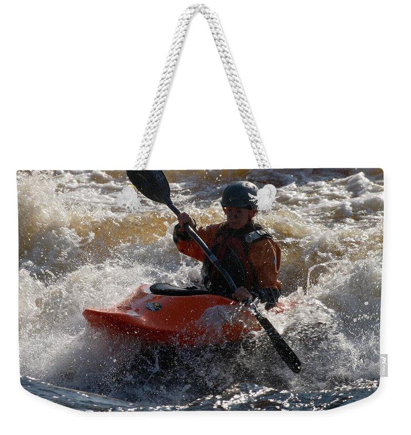 Lehtokukka Weekender Tote Bag featuring the photograph Kayak 7 by Jouko Lehto