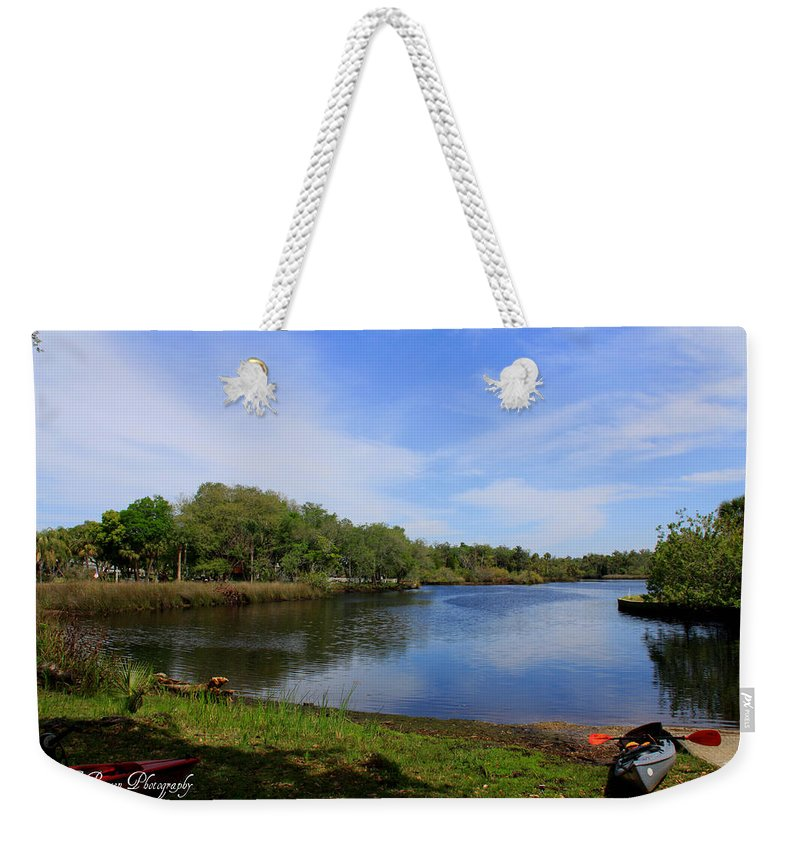 Cotee River Weekender Tote Bag featuring the photograph Kayaking The Cotee River by Barbara Bowen