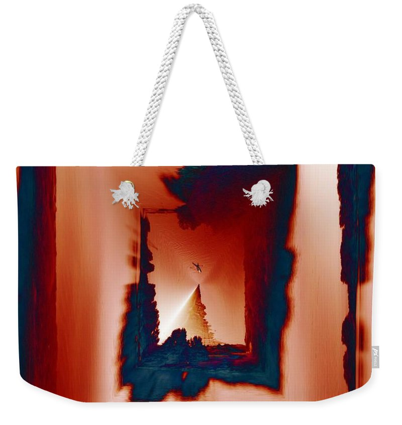 Kayak Weekender Tote Bag featuring the photograph Kayaking The Cut by Tim Allen