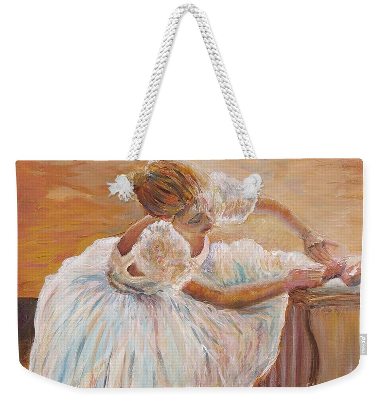 Dancer Weekender Tote Bag featuring the painting Kaylea by Nadine Rippelmeyer