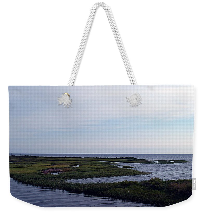 Gulf Weekender Tote Bag featuring the photograph Keaton Beach Wetland by Bob Johnson