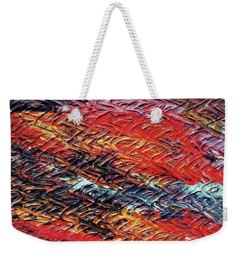 Keith Elliott Weekender Tote Bag featuring the painting Keelee's Revenge - V1vhkf100 by Keith Elliott