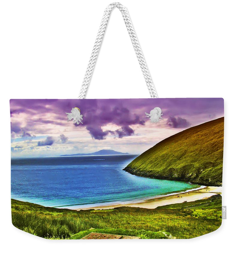 Keem Bay Weekender Tote Bag featuring the photograph Keem Bay - Ireland by Bill Cannon
