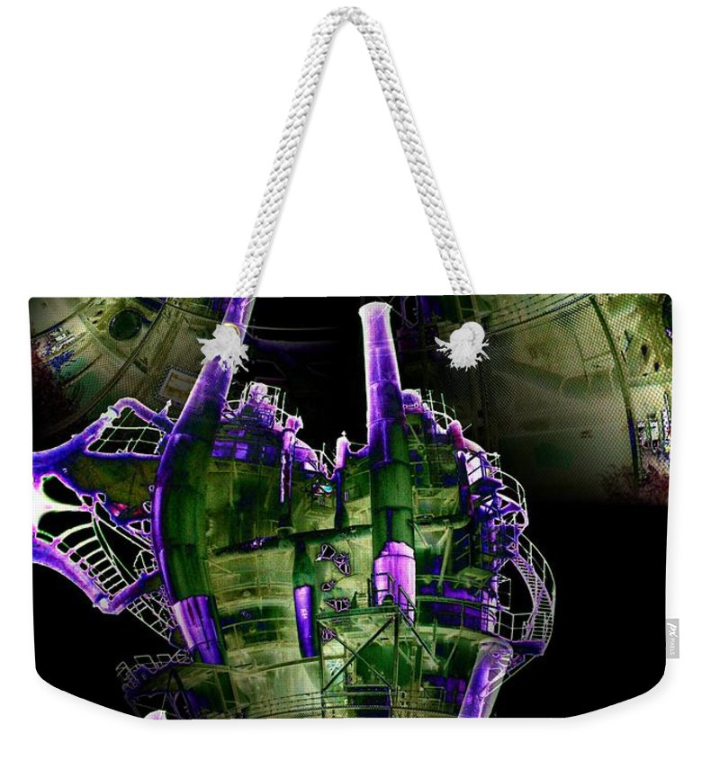 Seattle Weekender Tote Bag featuring the digital art Keepers Of The Gasworks by Tim Allen