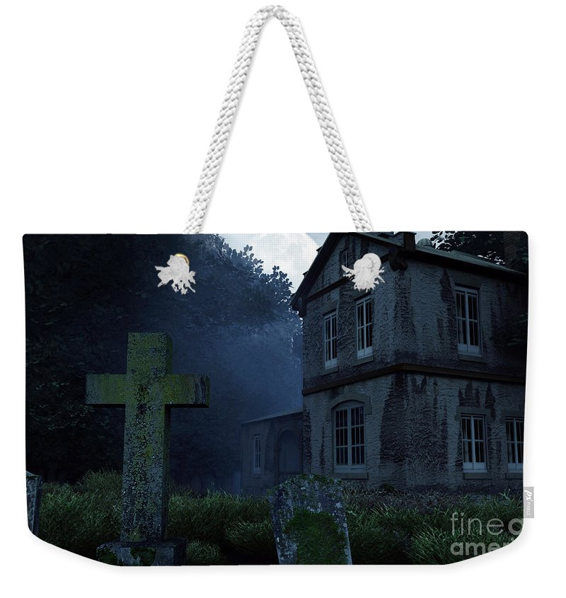 Dark Weekender Tote Bag featuring the digital art Keepers Of The Manor by Richard Rizzo