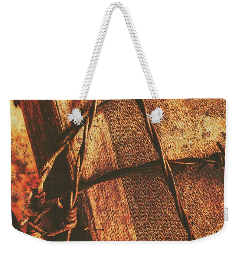 The Crucifixion Weekender Tote Bags