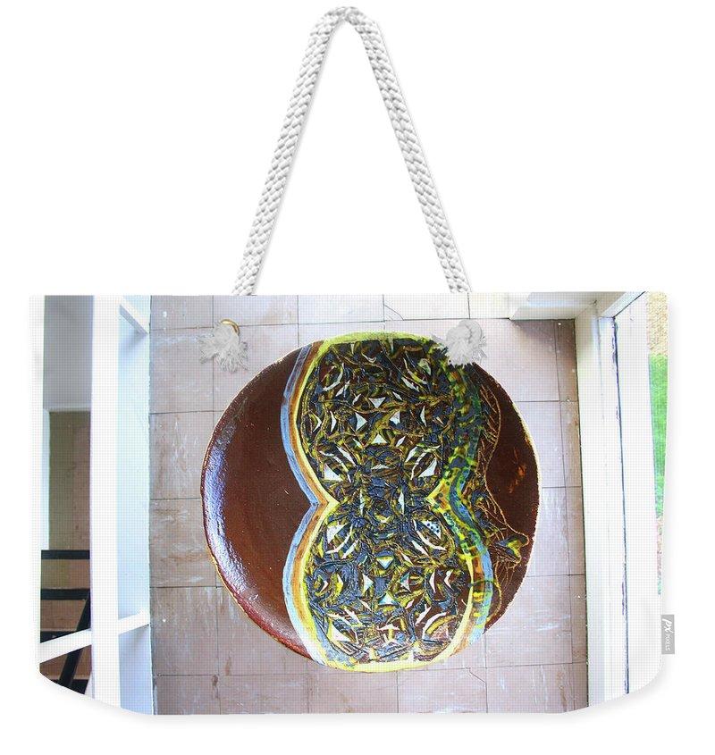 Mama Africa Twojesus Weekender Tote Bag featuring the ceramic art Keepsake View 2 by Gloria Ssali
