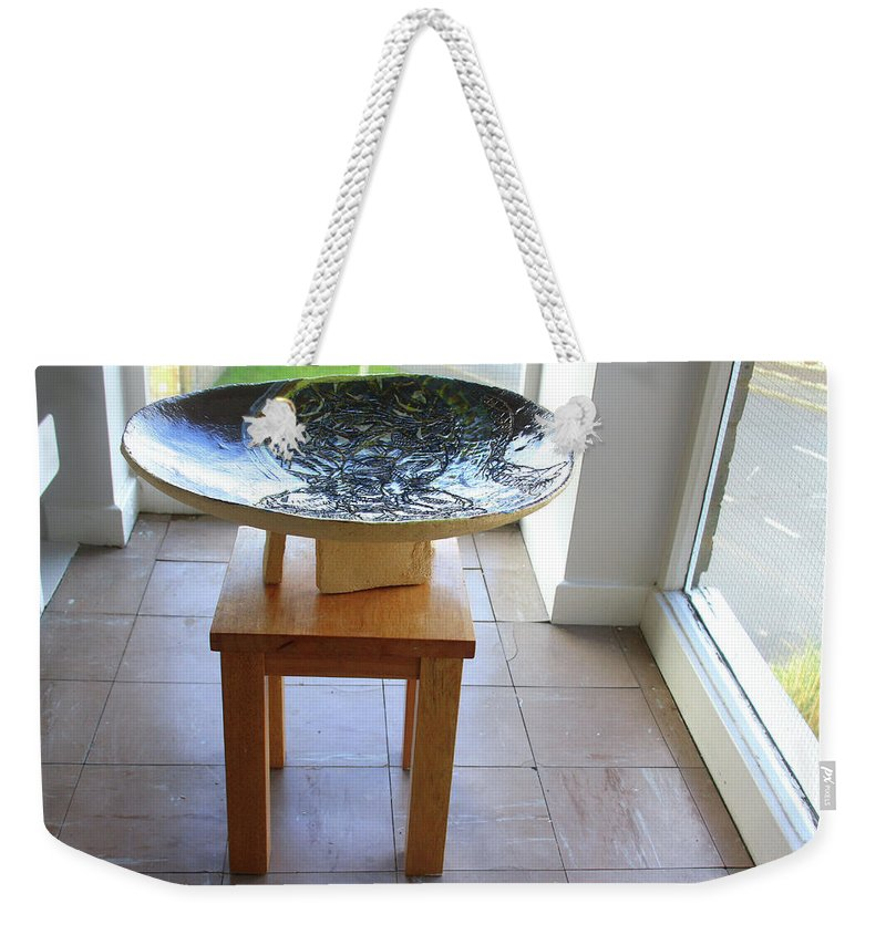 Mama Africa Twojesus Weekender Tote Bag featuring the ceramic art Keepsake View One by Gloria Ssali