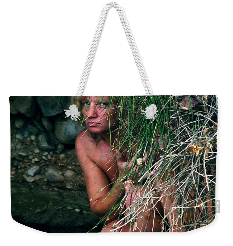 Woman Nude Photo Weekender Tote Bag featuring the photograph Kelly Nude by Peter Piatt