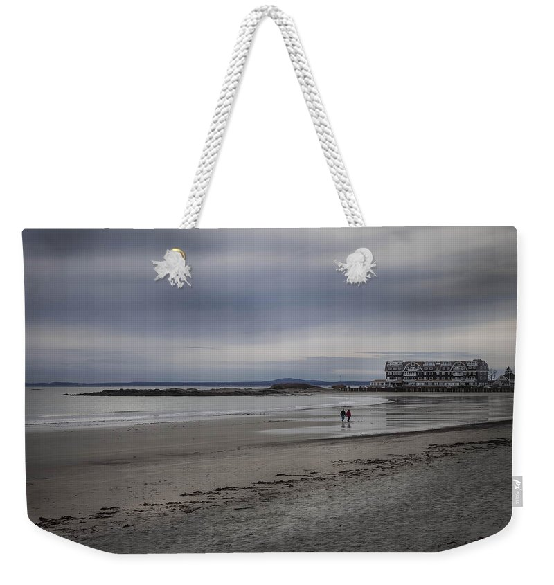 Beach Weekender Tote Bag featuring the photograph Kennebunkport Maine And Colonial Hotel by Debra Forand