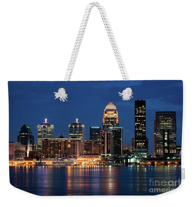 Louisville Weekender Tote Bag featuring the photograph Kentucky Blue by Andrea Silies