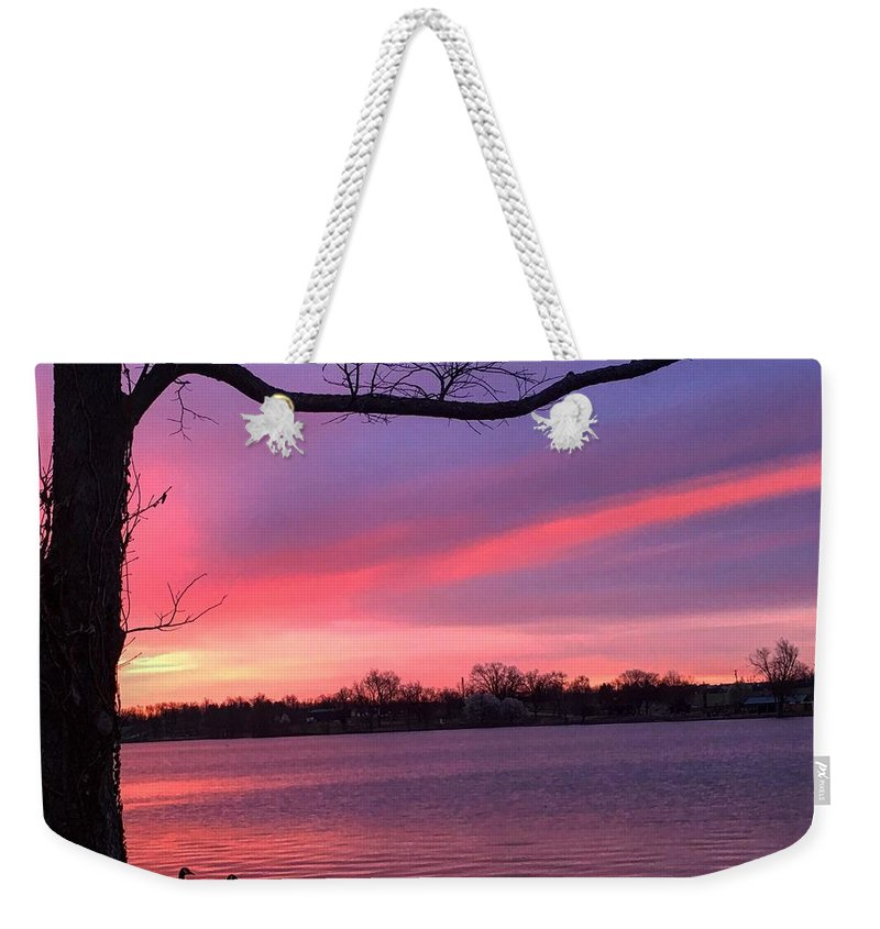 Sunrise Weekender Tote Bag featuring the photograph Kentucky Dawn by Sumoflam Photography
