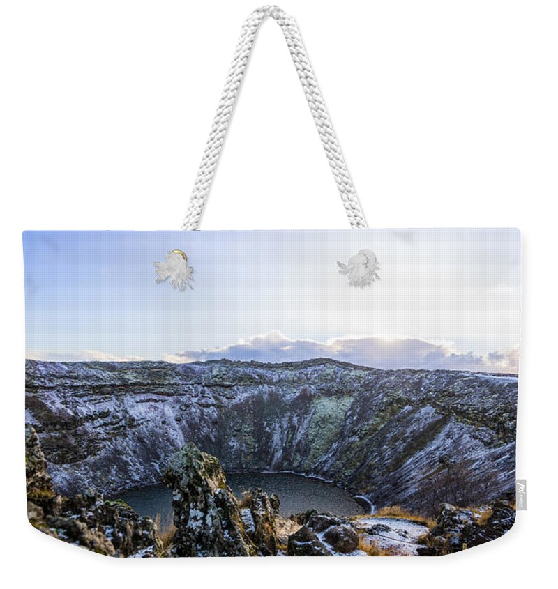 Iceland Weekender Tote Bag featuring the photograph Kerid Crater by Stephen Settles