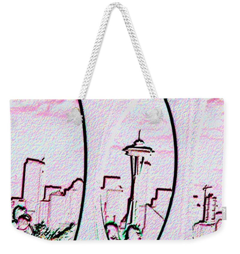 Seattle Weekender Tote Bag featuring the photograph Kerry Needle 2 by Tim Allen